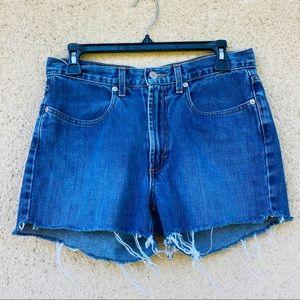 J crew cut off jean shorts T 8 antique vintage